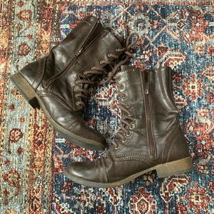 American Eagle Brown Combat Boots